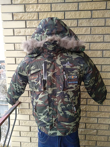 Куртка зимняя камуфляжная на подростков унисекс JING, фото 2