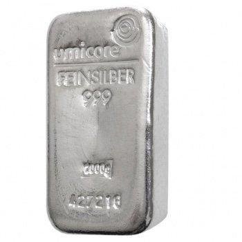 Слиток серебра 1000 грамм Umicore