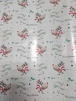 Упаковочная бумага новогодняя с рисунком олени