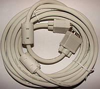 Кабель VGA/VGA 10м с ферритовыми фильтрами