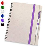 Блокнот на пружине А4 + ручка (блокноты под печать)блокнот с резинкой