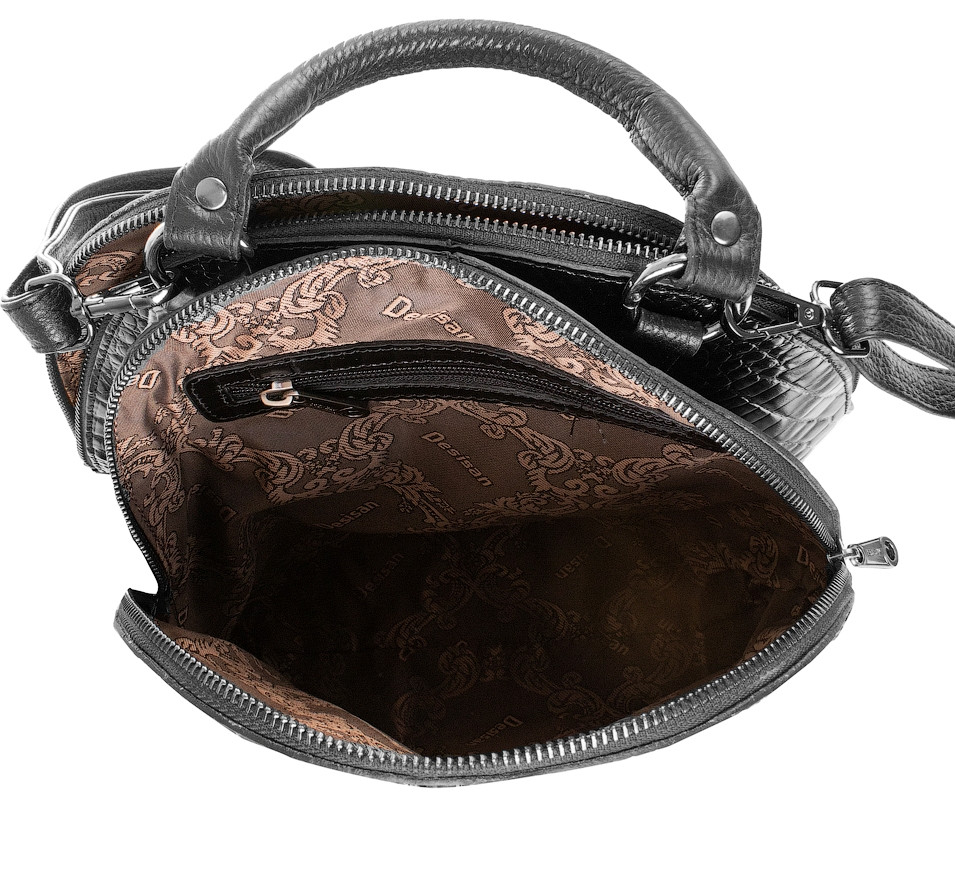 7fb89f6e1b84 Женский кожаный рюкзак DESISAN SHI6001-633 чёрный, 10 л, цена 3 528 грн.,  купить Київ — Prom.ua (ID#826799244)
