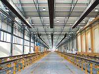 Отопления производства с помощью системы греющий потолок