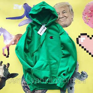 Худи Champion зеленая • Офигенная реплика
