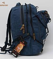 Чоловічий повсякденний міський рюкзак   Мужской брезентовый городской рюкзак  Gold Be   GoldBe fde3cde9076