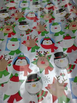 Упаковочная бумага размер 1 метр на 70 см новогодняя с ярким рисунком 1 шт