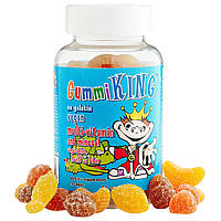 Gummi King Multi-Vitamin and Mineral, Vegetables, Fruits and Fiber, For Kids, 60 Gummies, фото 1