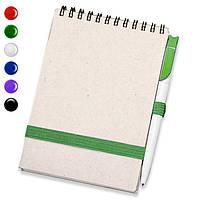 Блокнот на пружине А5 + ручка (блокноты под печать)блокнот с резинкой