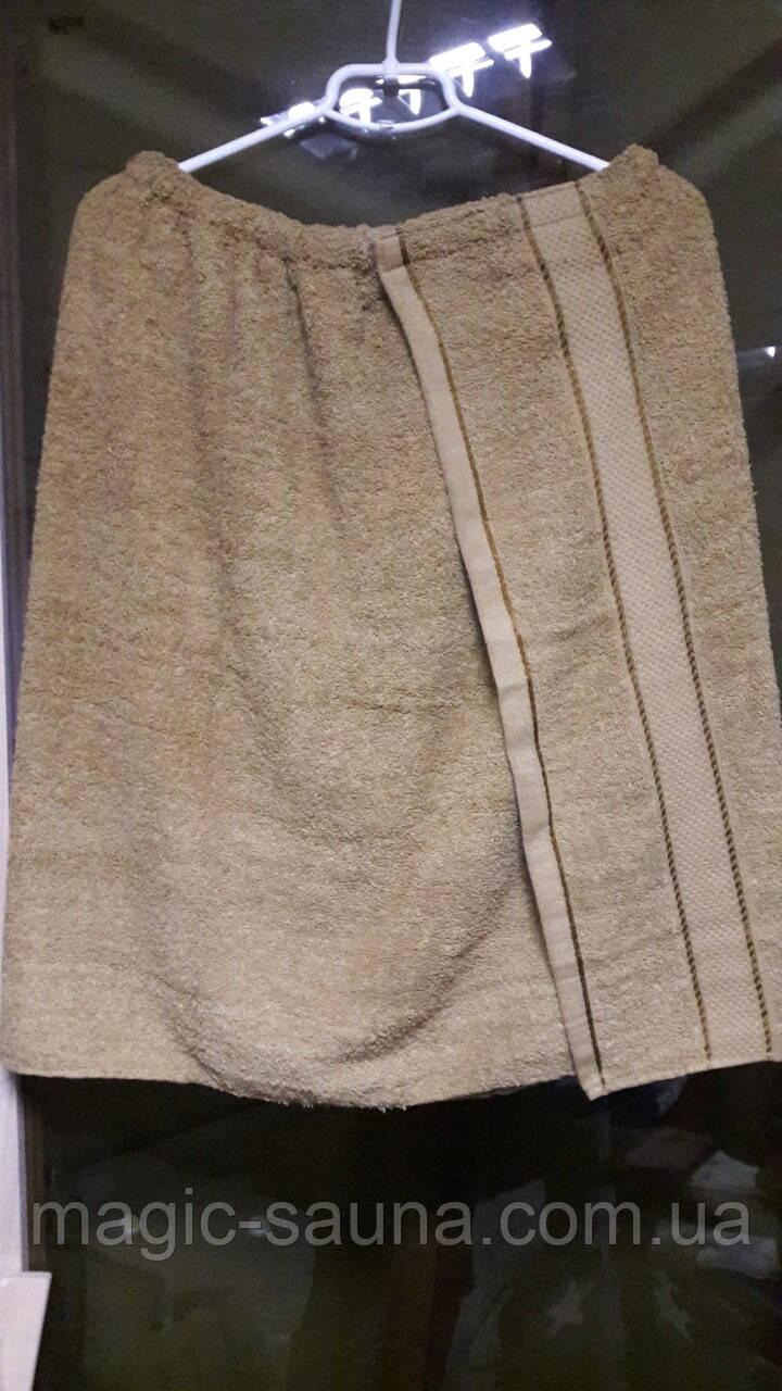 Юбка-полотенце для сауны и бани (коричневый)