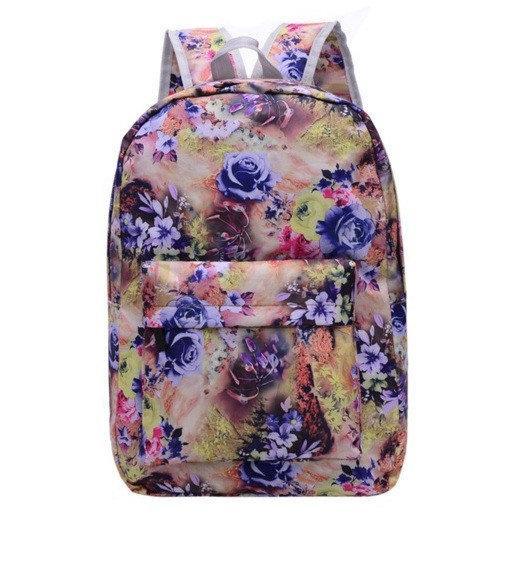 Рюкзак женский большие цветы Желтый