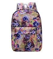 Рюкзак женский большие цветы Желтый , фото 1