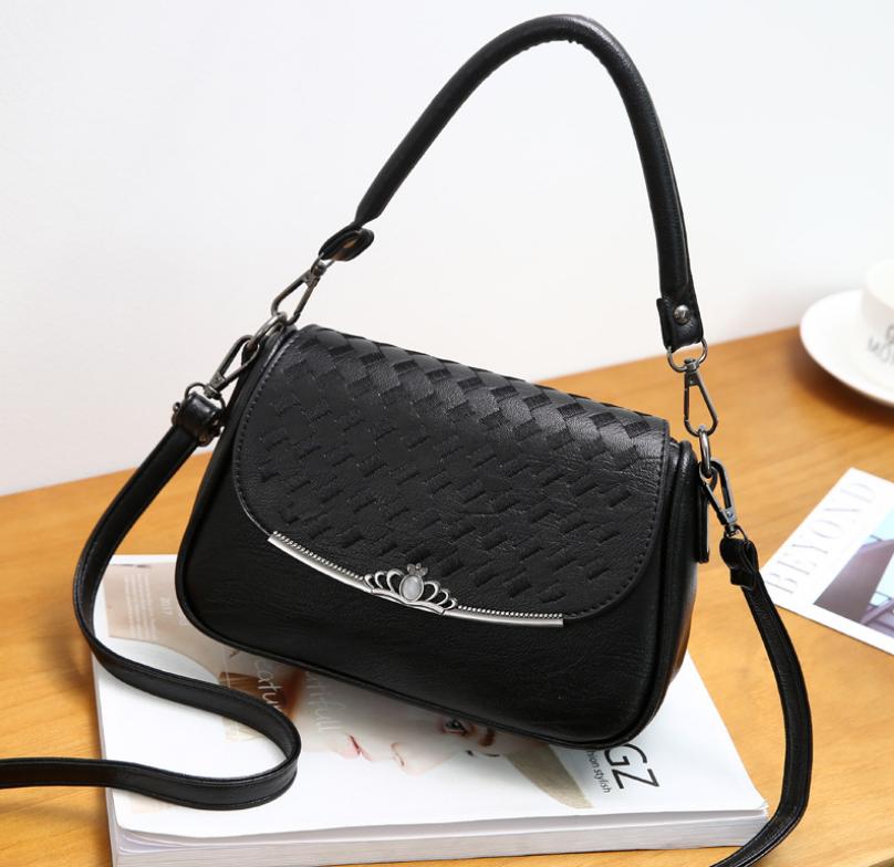 4bf9e05a604f Купить Женскую сумку кросс боди с плетением Crown Чёрную недорого в ...