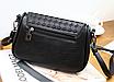 Женская сумка кросс боди с плетением Crown Черный, фото 2