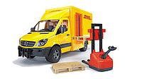 Игрушка - Bruder МВ Sprinter курьерская доставка грузов с погрузчиком AKT-02534