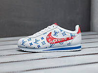 Мужские кроссовки Nike Cortez x Supreme x Louis Vuitton White