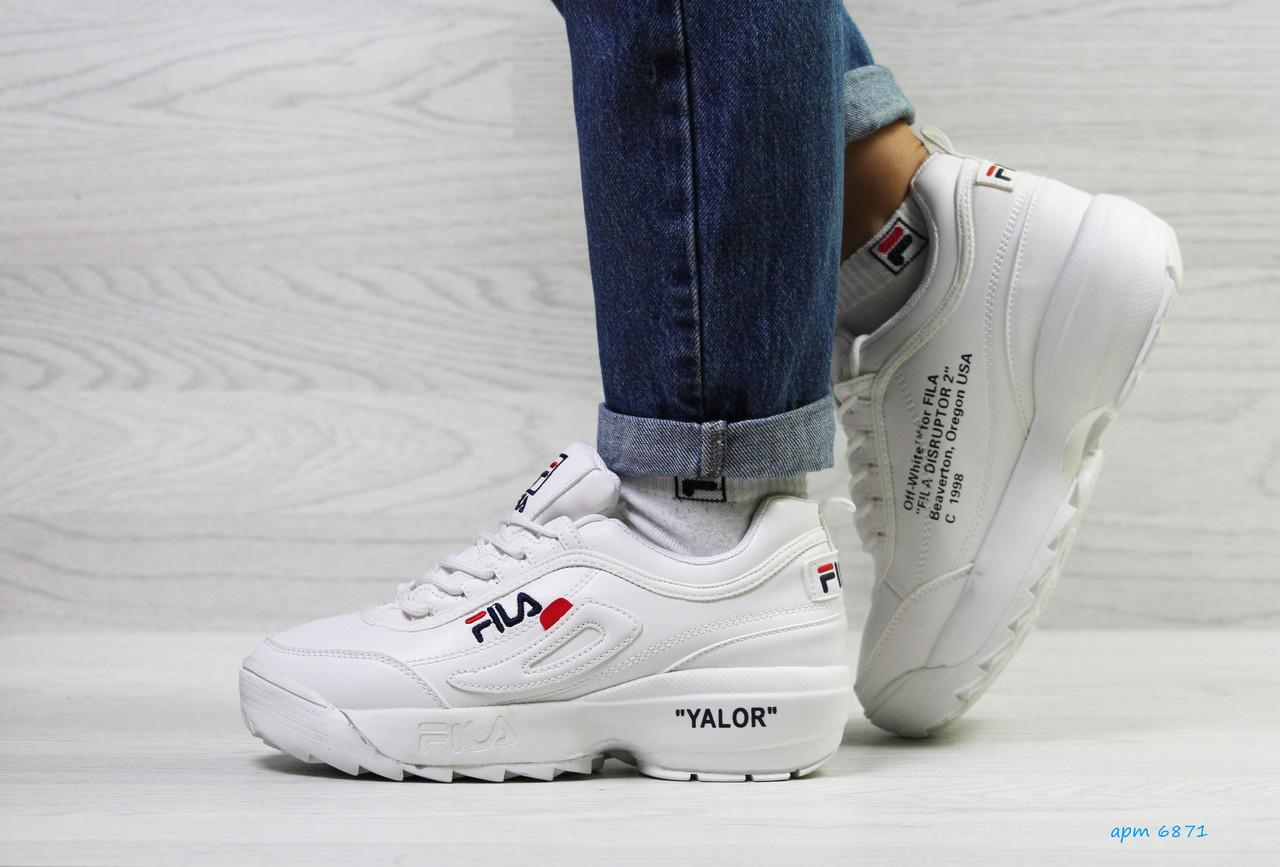 Белые. Кроссовки зимние женские в стиле Fila Yalor 04316c99ec14e