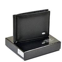 Мужской кошелек с зажимом из натуральной кожи Dr. Bond. Кожаный кошелек - зажим Черный , фото 1