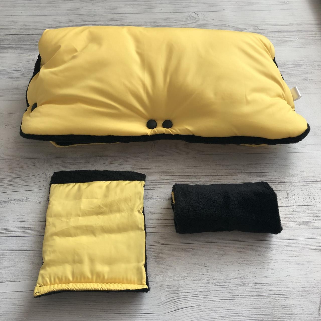 Муфта у візочок суцільна Жовта з чорним