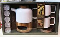 Набор для чая с бамбуковыми подставками
