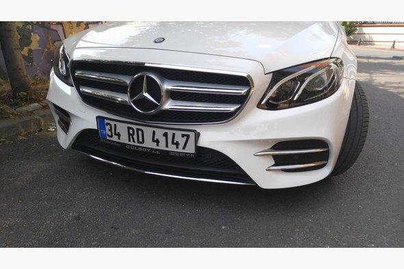 Накладки на противотуманки (нерж) - Mercedes E-klass W213