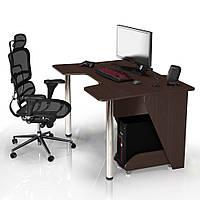 """Стол компьютерный 140х92х75 см. """"Igrok-3"""" Геймерский, венге/венге, фото 1"""