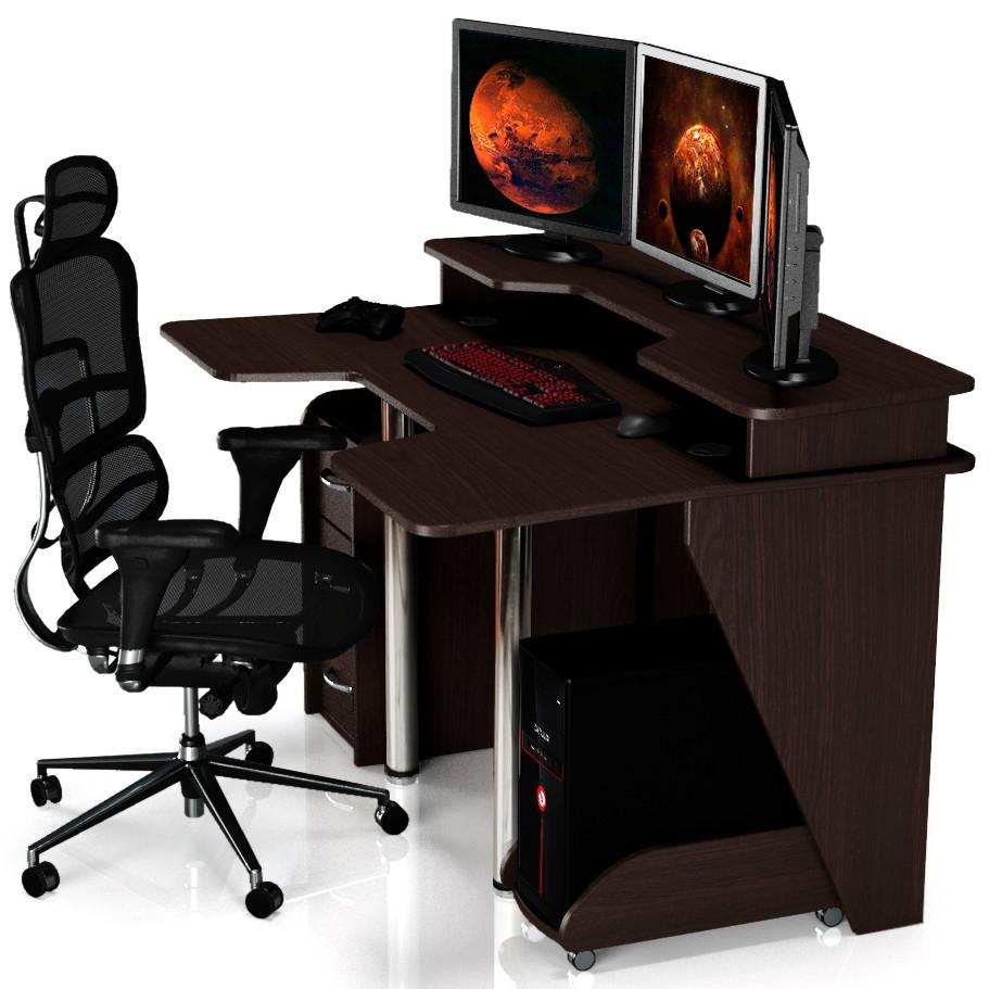 """Стол компьютерный 140х92х88 см. """"Igrok-4"""" Геймерский, Цвет на выбор"""