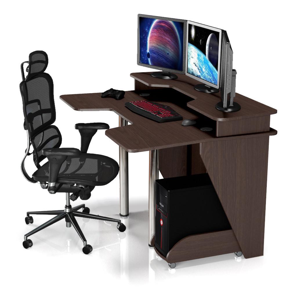 """Стол компьютерный 140х92х88 см. """"Igrok-5"""" Геймерский, Цвет на выбор"""