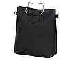 Женская сумка большая с ручками в наборе клатч и кошелек Cat Черный, фото 3