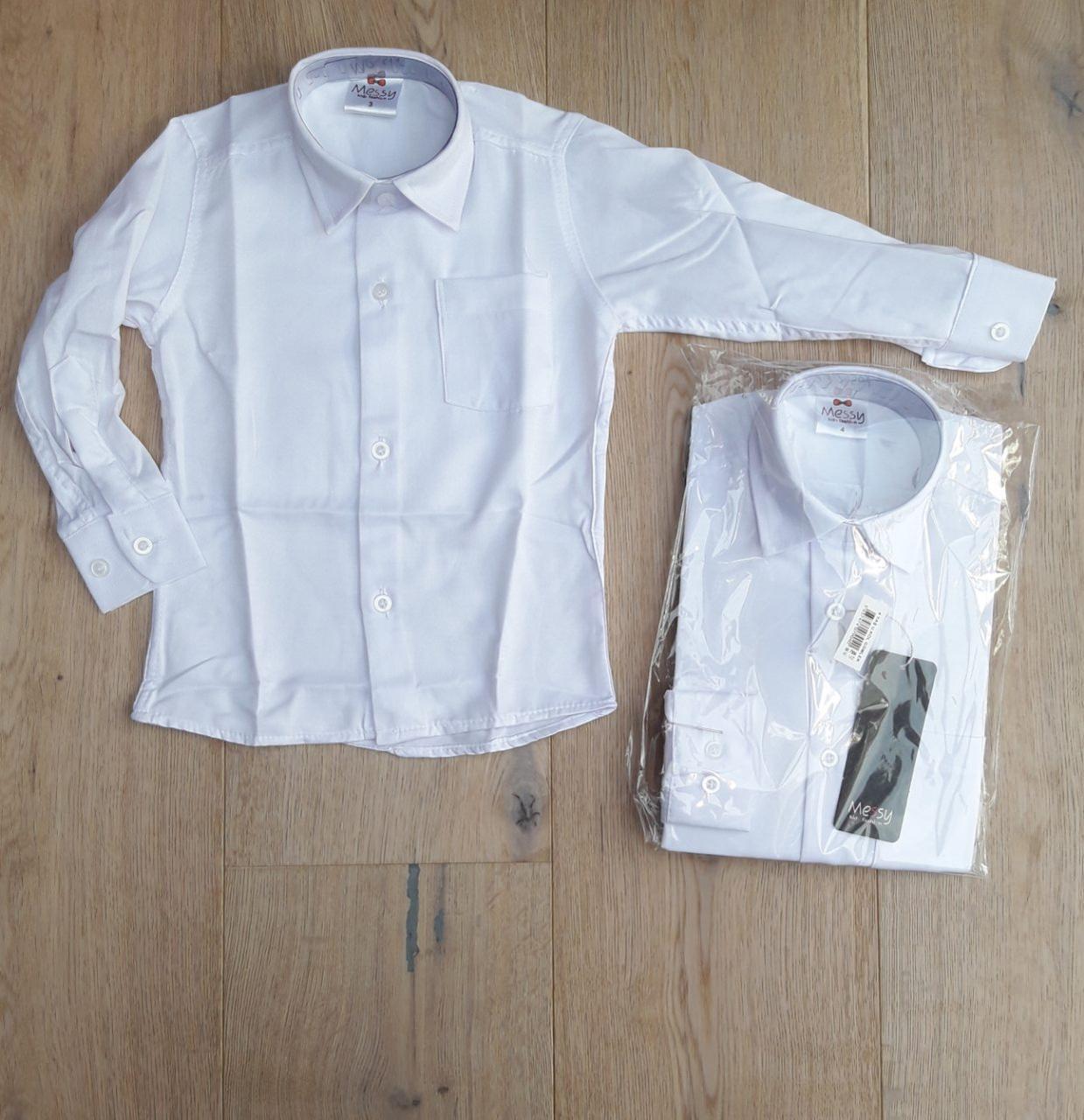 Детская рубашка белая 3-7