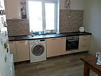 Модульная кухня Хай-Тек_кремовый перламутровый глянец (МДФ) 3,6м