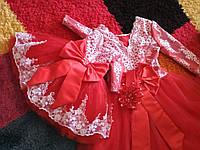Красное платье для мамы и дочки