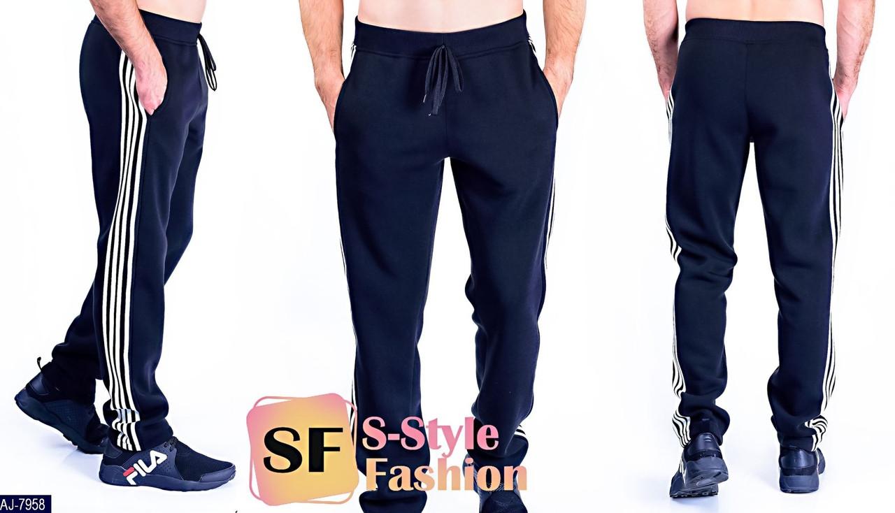 Спортивные брюки мужские с полосками Размер: 48-50, 52-54, 44-46 Материал: трехнить
