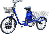Электровелосипед трехколесный грузовой Vega HAPPY  реверс NEW 2018  синий
