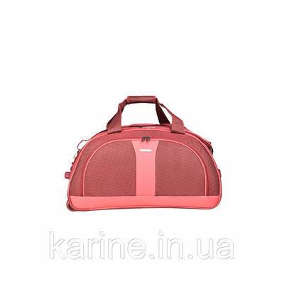 Сумка дорожная на колёсах, бордово-красная MY TRAVEL формованная 50х29х32 см ксТ400-20