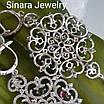 Серебряные брендовые серьги - Вечерние серьги висюльки серебро 925, фото 3