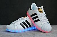 Кроссовки Детские Adidas Superstar с LED подсветкой