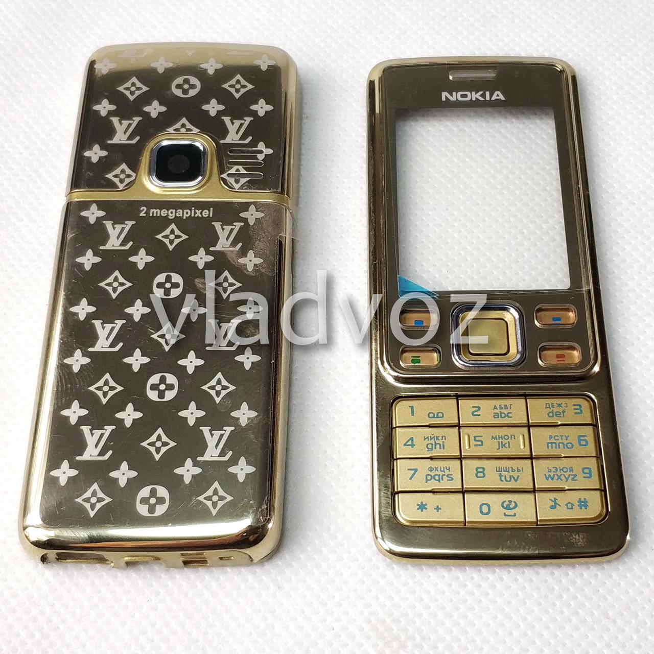 Корпус для Nokia 6300 золото с кнопками class AAA LV
