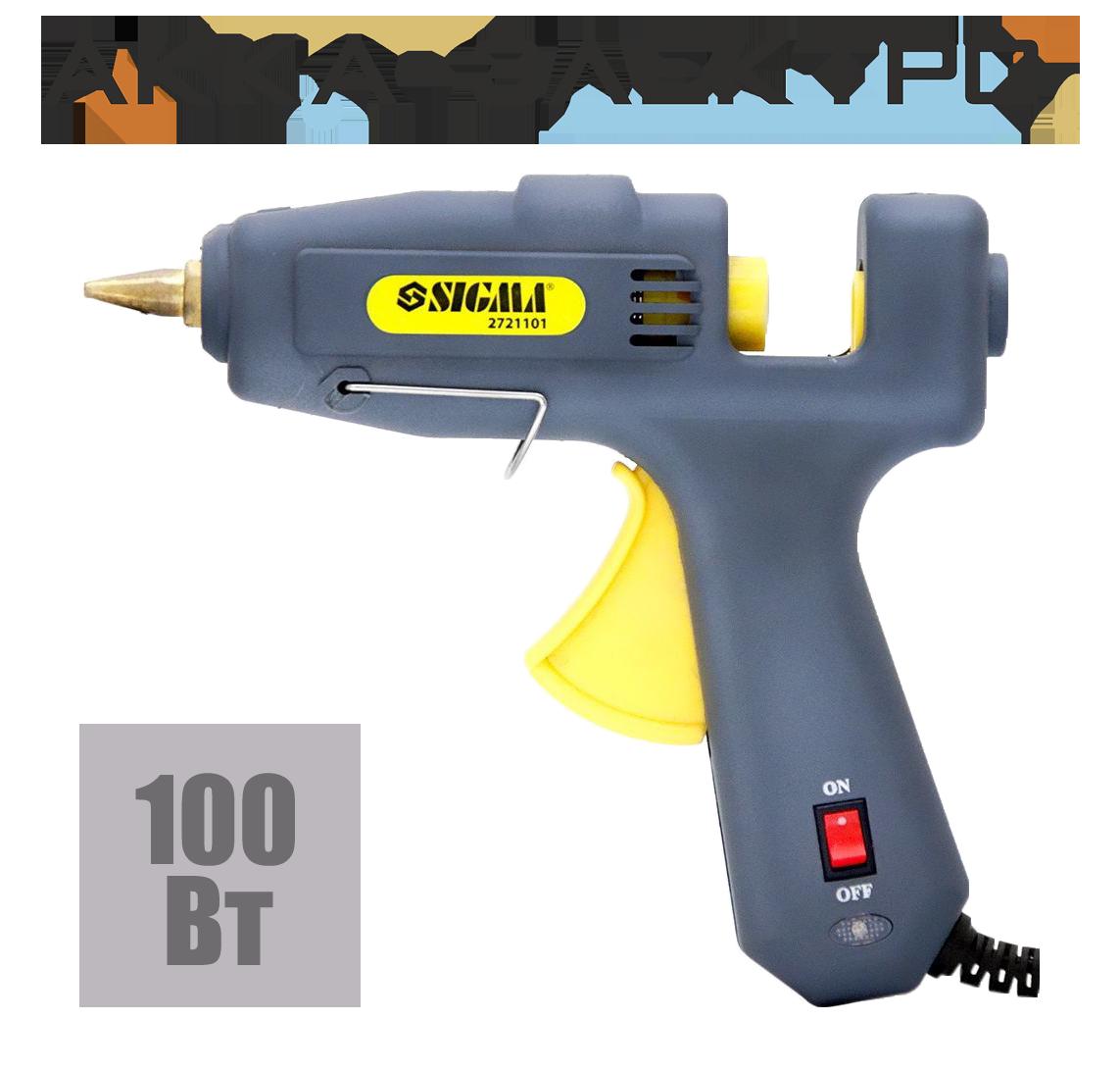 Пістолет термоклеевой з вимикачем 11.2 мм 100 Вт SIGMA 2721101