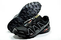 Кроссовки мужские в стиле Salomon Speedcross 3, Чёрный/Серый