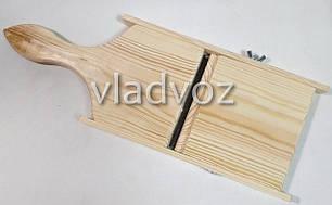 Большая шинковка деревянная для капусты терка нож, фото 2