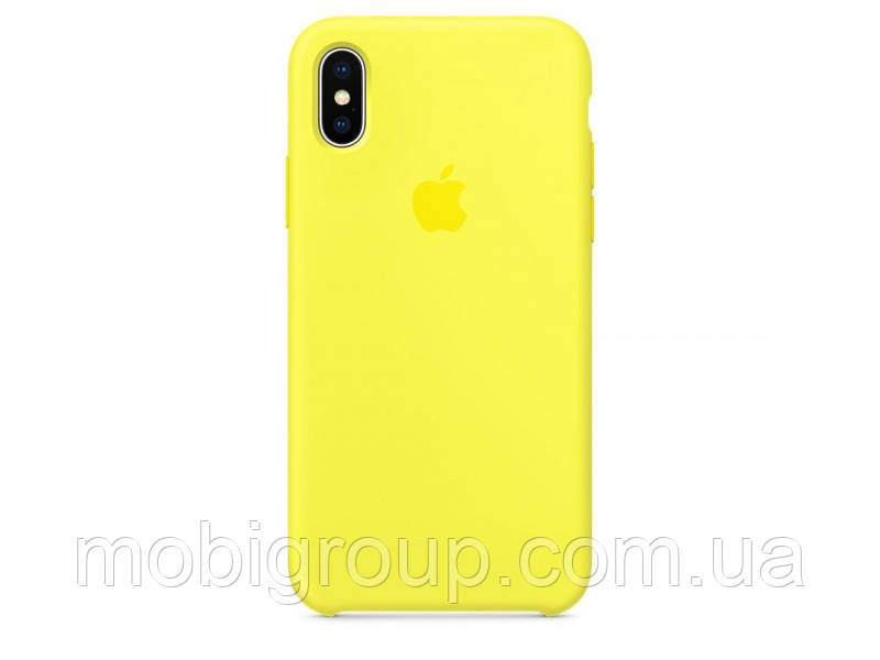 Чехол Silicone Case для iPhone Xs Max, Yellow
