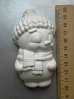 Гипсовая фигурка заготовка для раскрашивания. Гіпсова фігурка для розмальовування. Снеговик мальчик.