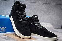 Мужские зимние кроссовки Adidas Tubular Invader Strap Black/White
