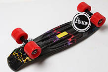 "Пенни Борд Penny Board Принт 22"" - Dark-Light 54 см, фото 2"