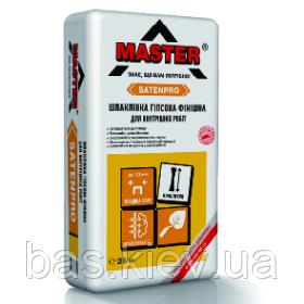 MASTER  SATENPRO , Гипсовая финишая шпаклевка для внутренних работ, 25кг