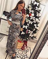 """Платье женское трикотажное в пол """"Готье"""", фото 1"""