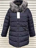 Зимова жіноча куртка великі розміри батали