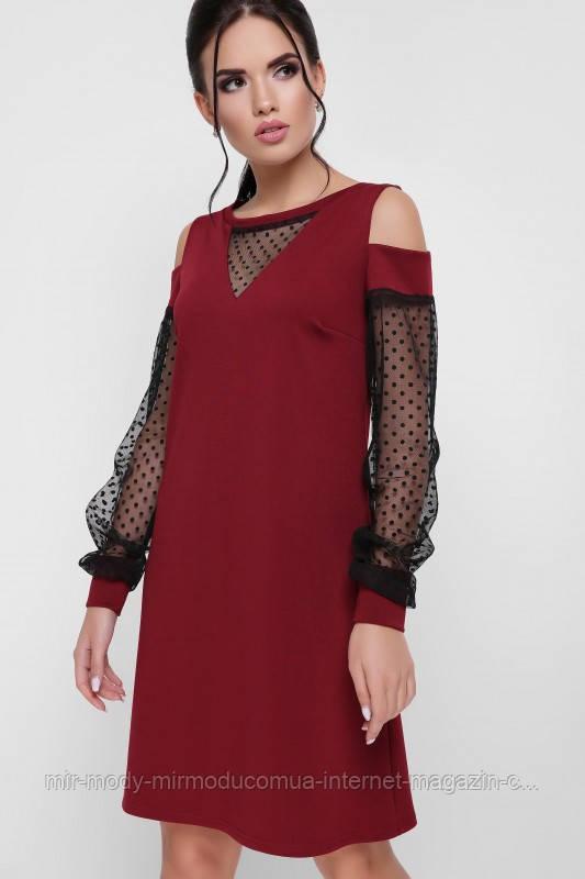 """Платье """"Melisenta"""" марсала размер  с 42 по 48  (вст)"""