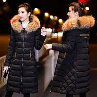 Пуховик  пальто женский ультрамодный стеганый, с капюшоном зимний. Новая стильная модель 2018-19 г.)
