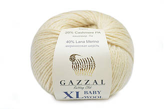 Gazzal Baby Wool XL, Кремовый №829
